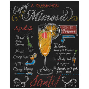 Mimosa Recipe Chalkboard Look Decal