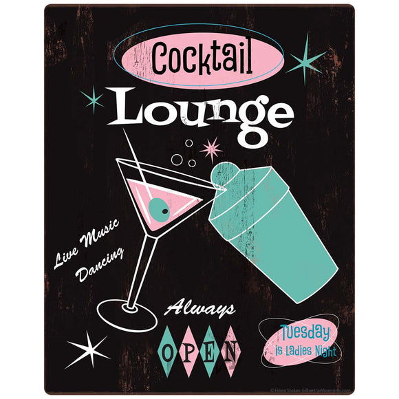 Cocktail Lounge 1950s Style Decal