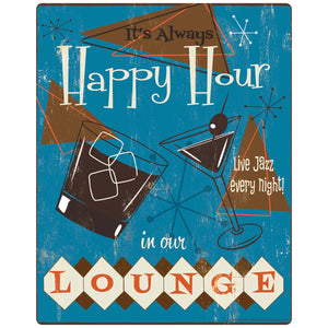 Happy Hour In Our Lounge 1950s Style Decal