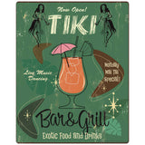 Tiki Bar & Grill 1950s Style Decal