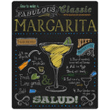 Margarita Recipe Chalkboard Look Sticker