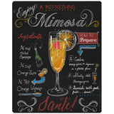 Mimosa Recipe Chalkboard Look Sticker