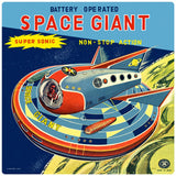 Space Giant Toy Advertisement Decal
