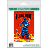 Planet Robot Tin Toy Sticker