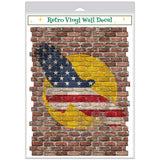 Patriotic Eagle Sun Faux Brick Decal