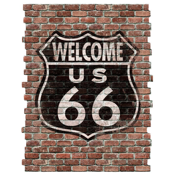 Welcome Route 66 Faux Brick Decal