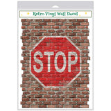 Stop Sign Faux Brick Decal