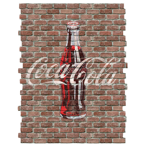 Coca-Cola Bottle Faux Brick Decal