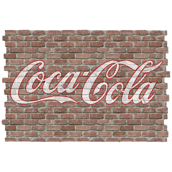 Coca-Cola Script Faux Brick Decal