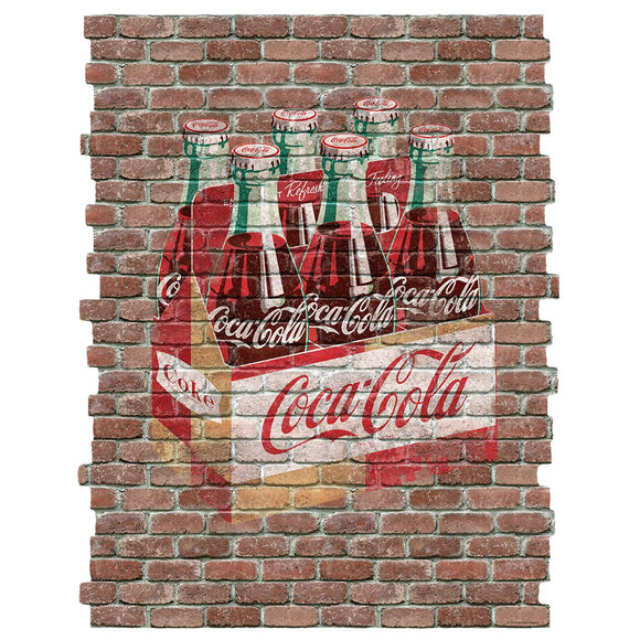 Coca-Cola Six Pack Faux Brick Decal