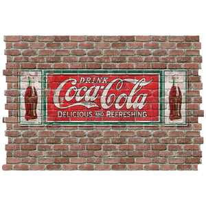 Coke Delicious Refreshing Faux Brick Decal