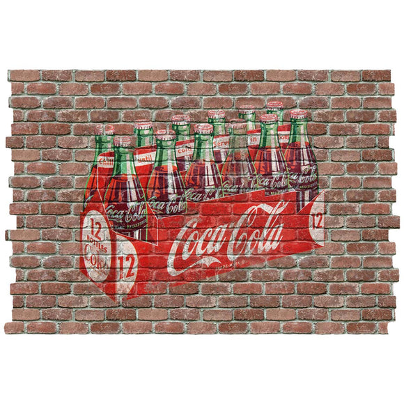 Coca-Cola 12 Pack Faux Brick Decal