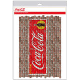 Drink Coca-Cola Yellow Circle Faux Brick Decal