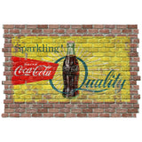 Coca-Cola Sparkling Quality Faux Brick Decal