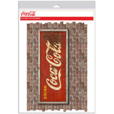 Drink Coca-Cola Rusted Look Faux Brick Decal