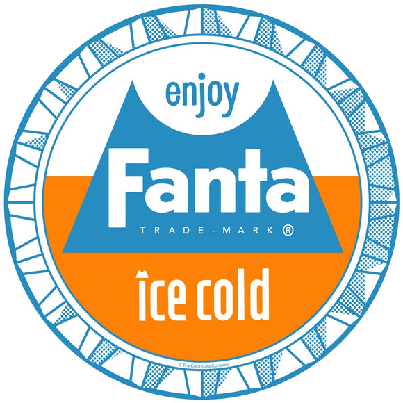 Fanta 1960s Style Bottle Cap Sticker