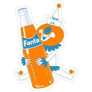 Fanta Clown 1960s Style Sticker