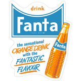 Fanta 60s Orange Drink And Bottle Sticker