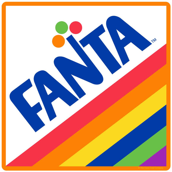 Fanta 1970s Rainbow Logo Sticker