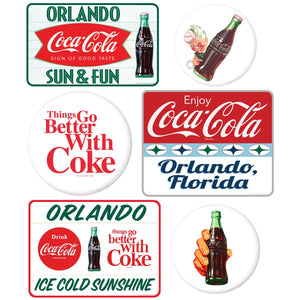 Coca-Cola Orlando with White Discs Sticker Set of 6