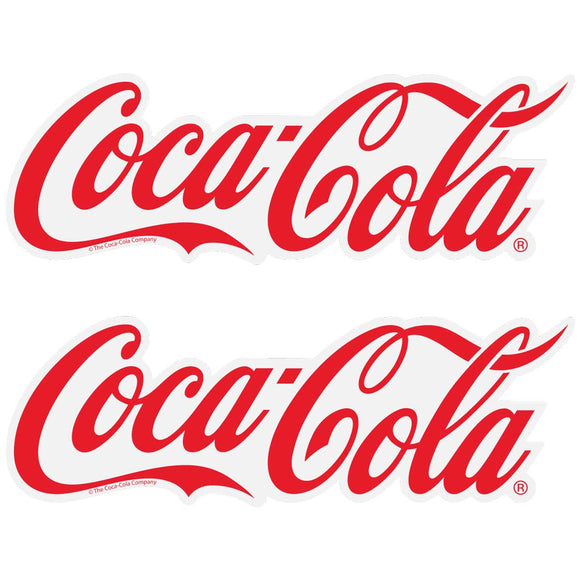 Coca-Cola Script Logo 1910s Style Decal Set of 2