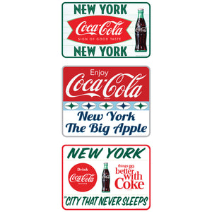 Coca-Cola New York City Sticker Set of 3