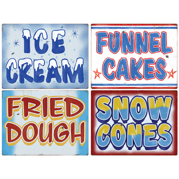 Carnival Eats Hot And Cold Food Decal Set Of 4