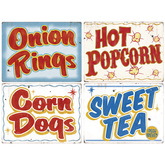 Carnival Food And Drink Decal Set Of 4