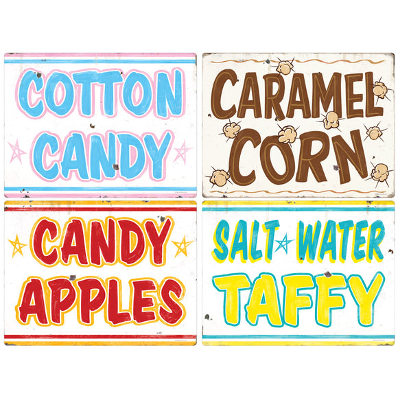 Carnival Sweets And Treats Food Decal Set Of 4
