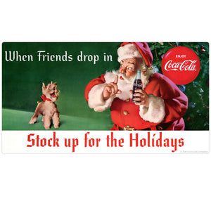 Coca-Cola Santa Friends Drop In Sticker