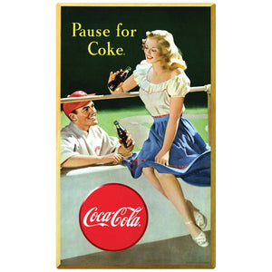 Coca-Cola Pause for Coke Baseball Sticker