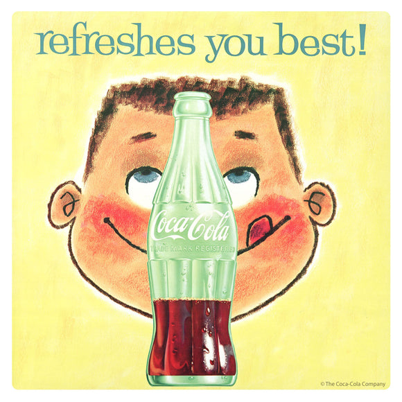 Coca-Cola Refreshes You Best Sticker