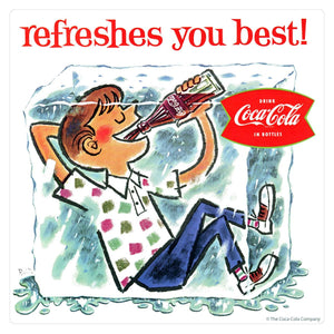 Coca-Cola Refreshes You Best Ice Block Sticker