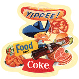 Yippee Cowboy Food & Coke Sticker