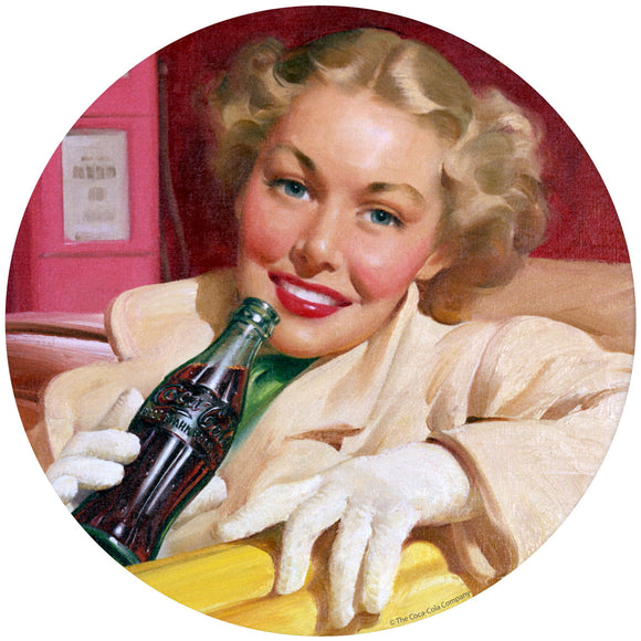 Coca-Cola Girl in Car Sticker
