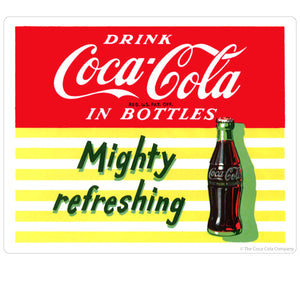 Drink Coca-Cola Mighty Refreshing Sticker