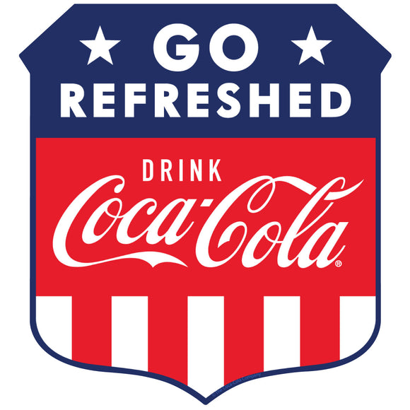 Drink Coca-Cola Go Refreshed Patriotic Sticker