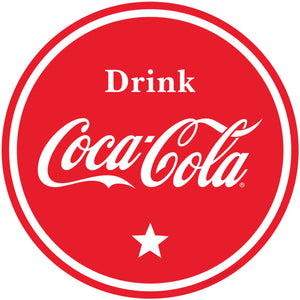 Drink Coca-Cola Red Circle Sticker