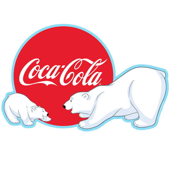 Coca-Cola Polar Bears Playing Sticker