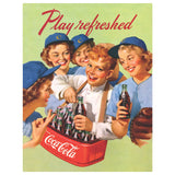 Coca-Cola Play Refreshed Baseball Players Decal