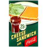 Coca-Cola Cheese Sandwich 25 Cents Decal