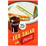 Coca-Cola Egg Salad Sandwich 25 Cents Decal