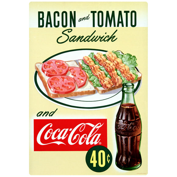 Coca-Cola Bacon Tomato Sandwich 40 Cents Decal