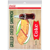 Coca-Cola Grilled Cheese Sandwich Coke Fishtail Decal