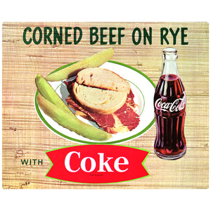 Coca-Cola Corned Beef on Rye Sandwich Coke Fishtail Decal