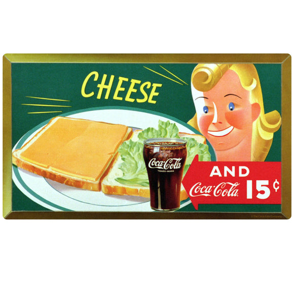 Coca-Cola Cheese Sandwich 15 Cents Decal
