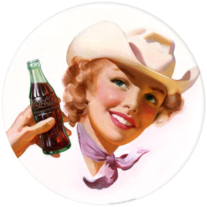 Coca-Cola Cowgirl Decal