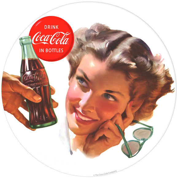 Coca-Cola Girl with Sunglasses Decal
