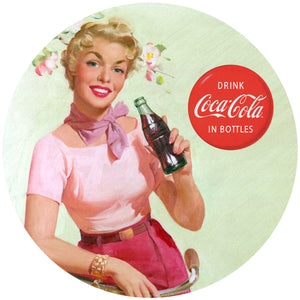 Coca-Cola Girl with Bicycle Decal