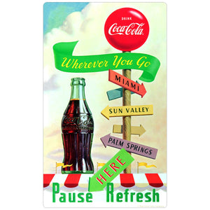 Coca-Cola Wherever You Go Pause Refresh Decal
